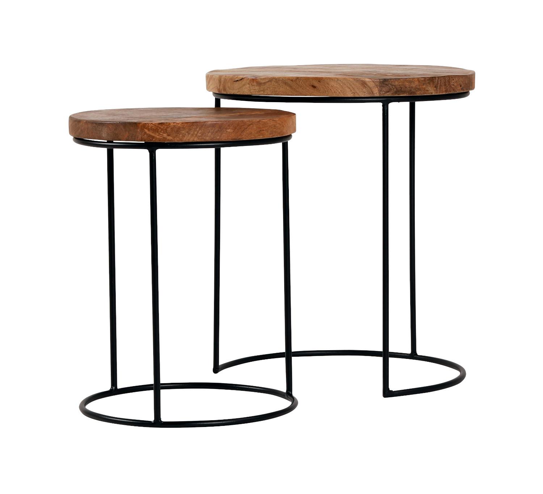 Deco sarjapöytä 2-os. pyöreä Ø 43/35 cm, ByNiemi