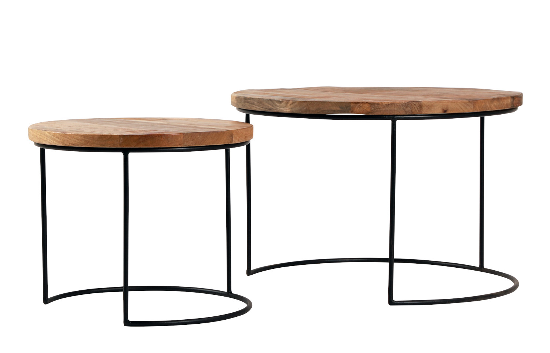 Deco sarjapöytä 2-os. pyöreä Ø 70/50 cm, ByNiemi