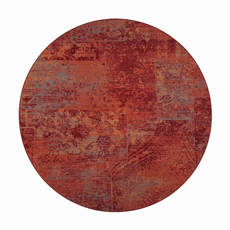 VM Carpet pyöreä Rustiikki matto, 14 punainen