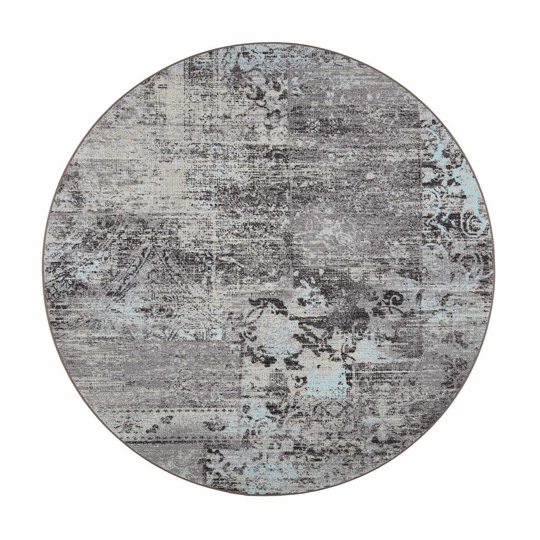 VM Carpet pyöreä Rustiikki matto, 32 turkoosi