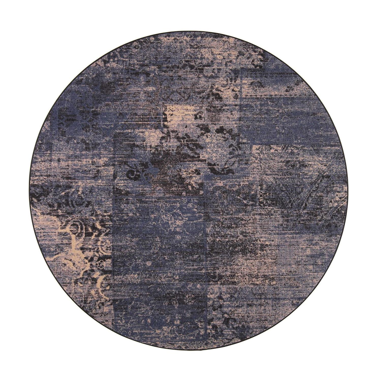 VM Carpet pyöreä Rustiikki matto, 79 sininen