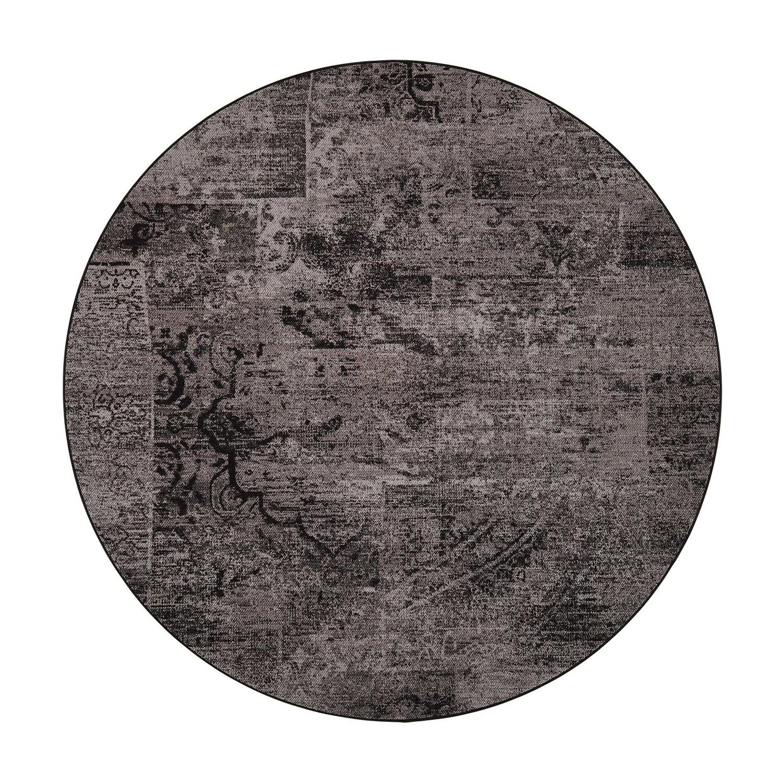 VM Carpet pyöreä Rustiikki matto, 98 musta