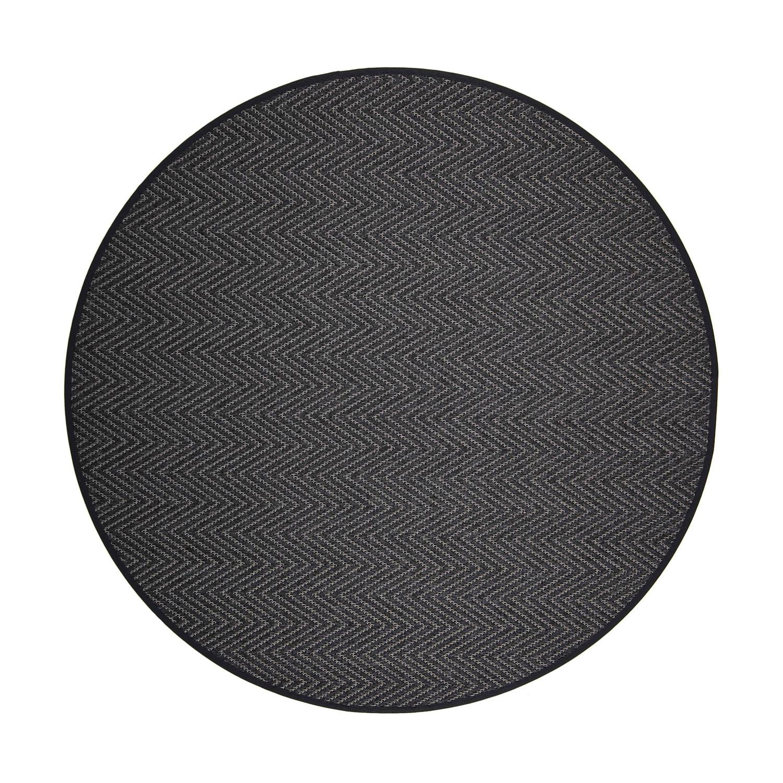 VM Carpet pyöreä Elsa matto, 79 musta