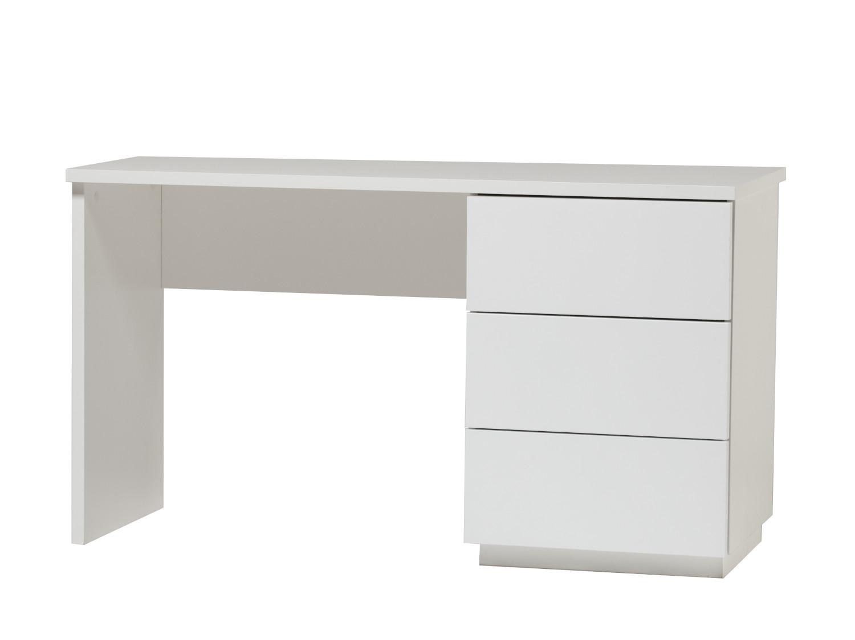 Anton työpöytä 130 cm laatikoilla oikea, valkoinen