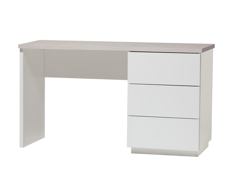 Anton työpöytä 130 cm laatikoilla oikea, valkoinen/saarni