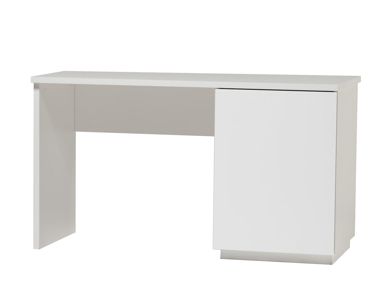 Anton työpöytä 130 cm ovella oikea, valkoinen