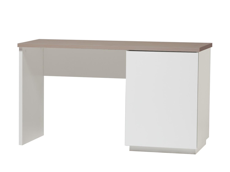 Anton työpöytä 130 cm ovella oikea, valkoinen/tammi