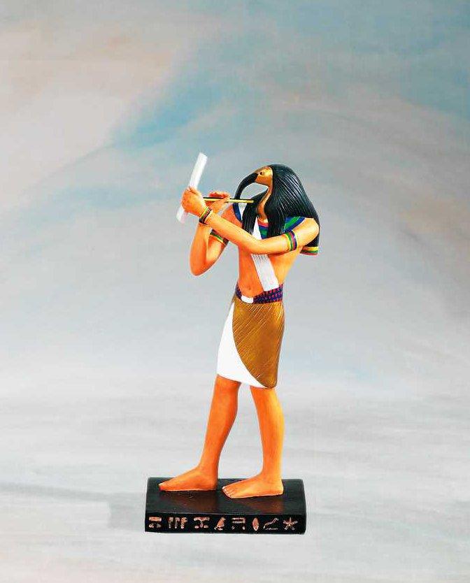 Egyptiläiset, Thoth - Jumalien kirjailija patsas