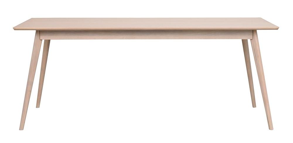 Yumi ruokapöytä kulmikas 190x90 valkolakattu tammi