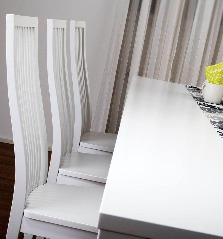 Julia pöytä 180x95 ja 6 tuolia puuistuin valkoinen