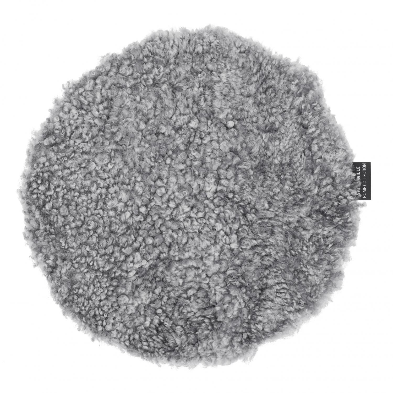 Curly istuinpehmuste Ø34 cm, Charcoal Silvergrey, II-laatu