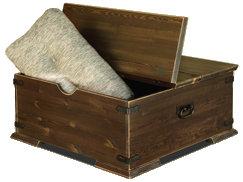 Konsta arkkupöytä 80x80 harjattu pähkinä