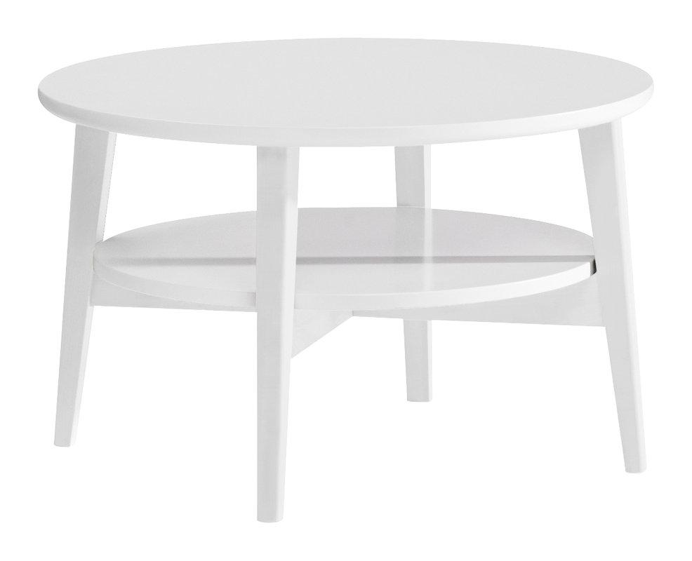 Olivia sohvapöytä pyöreä 75 valkoinen
