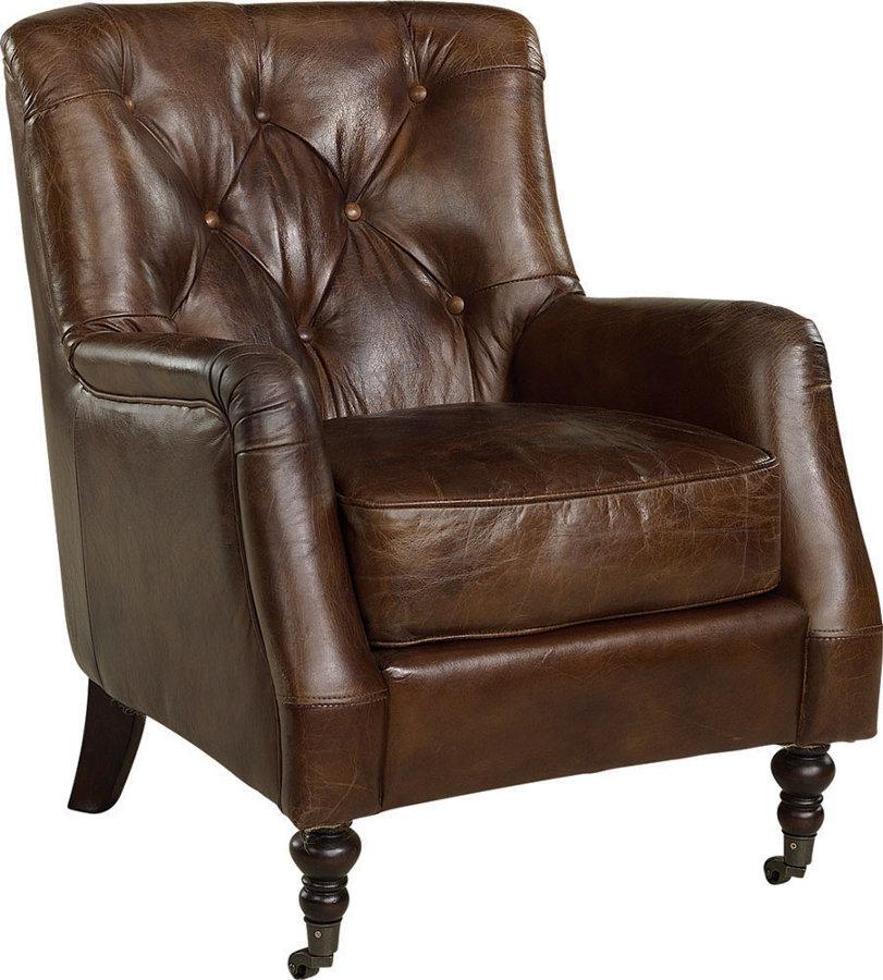 Dessau nojatuoli antiikkinahka ruskea