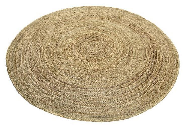 Hamppu matto 130 cm pyöreä