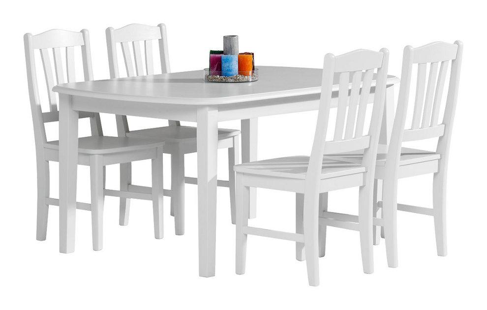 Viktoria ruokapöytä 140x90 valkoinen