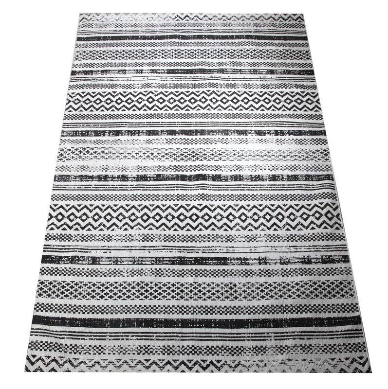 Maya matto 80 x 200 mustavalkoinen