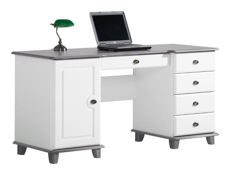 Viktoria kirjoituspöytä 160 valkoinen/kuultoharmaa