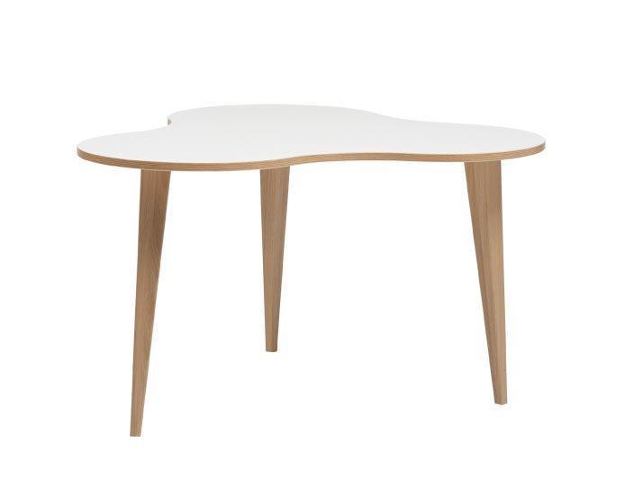 Luna 4 sohvapöytä valkoinen/tammi, tammi puujalat