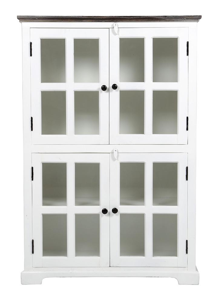 Madrid 01 vitriini 4-ovea valkoinen/harmaa