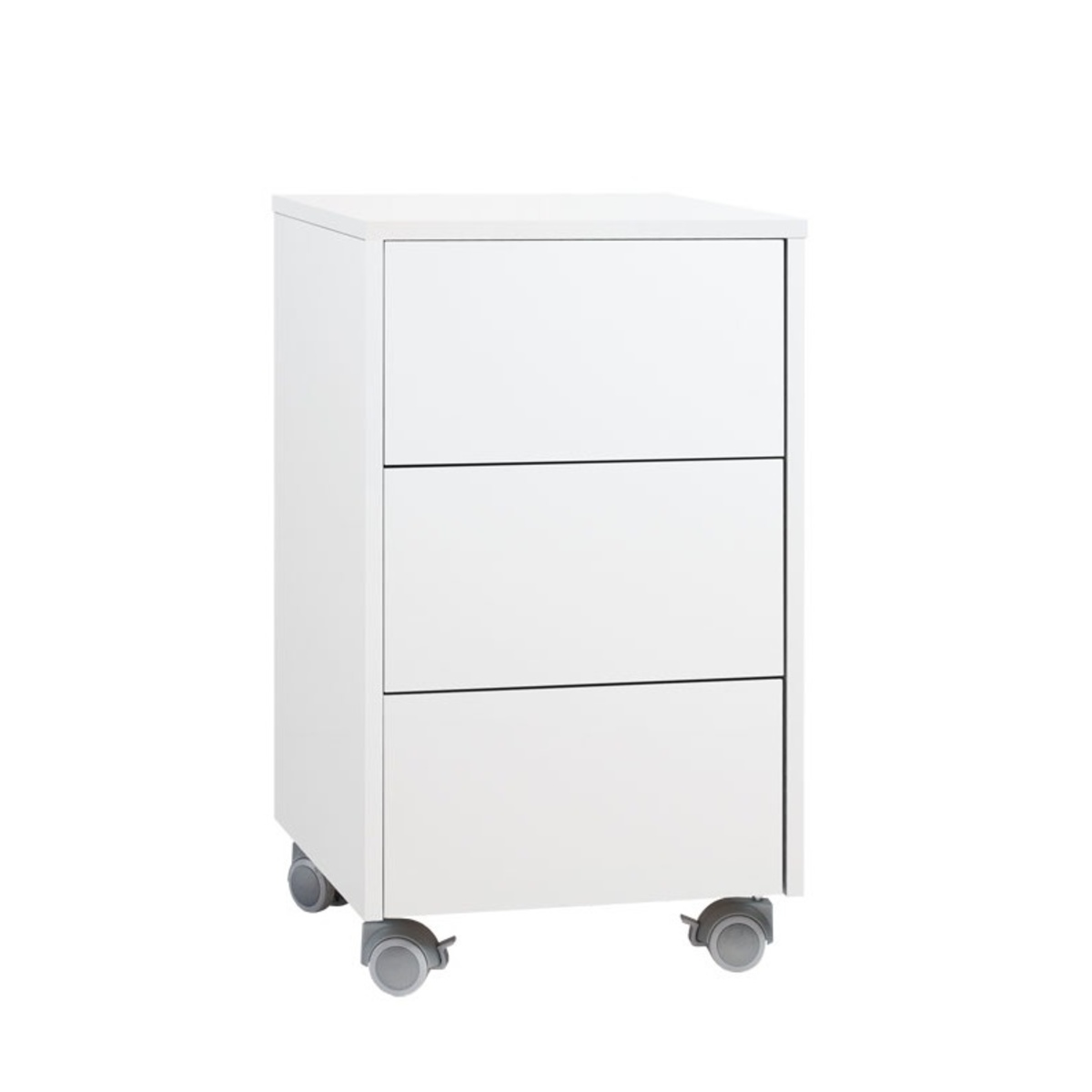 Ergo laatikosto pyörillä valkoinen