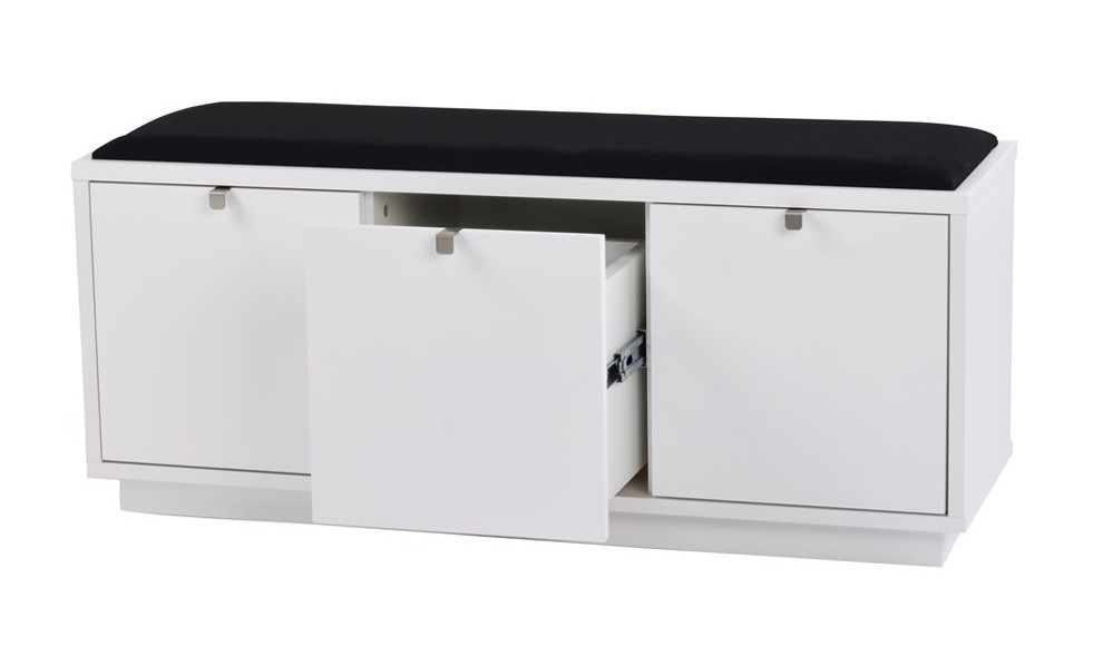 Confetti penkki 3L valkoinen/musta kangas, Rowico