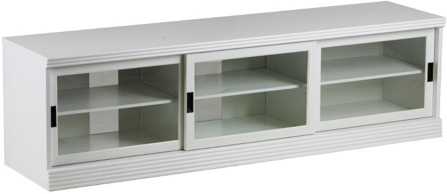 Gustav TV-taso 180 kirkas lasi, valkoinen