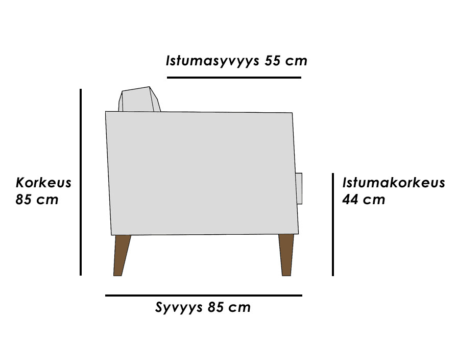 Aina 3+ - vuodesohva (2x90 cm meka) HR1
