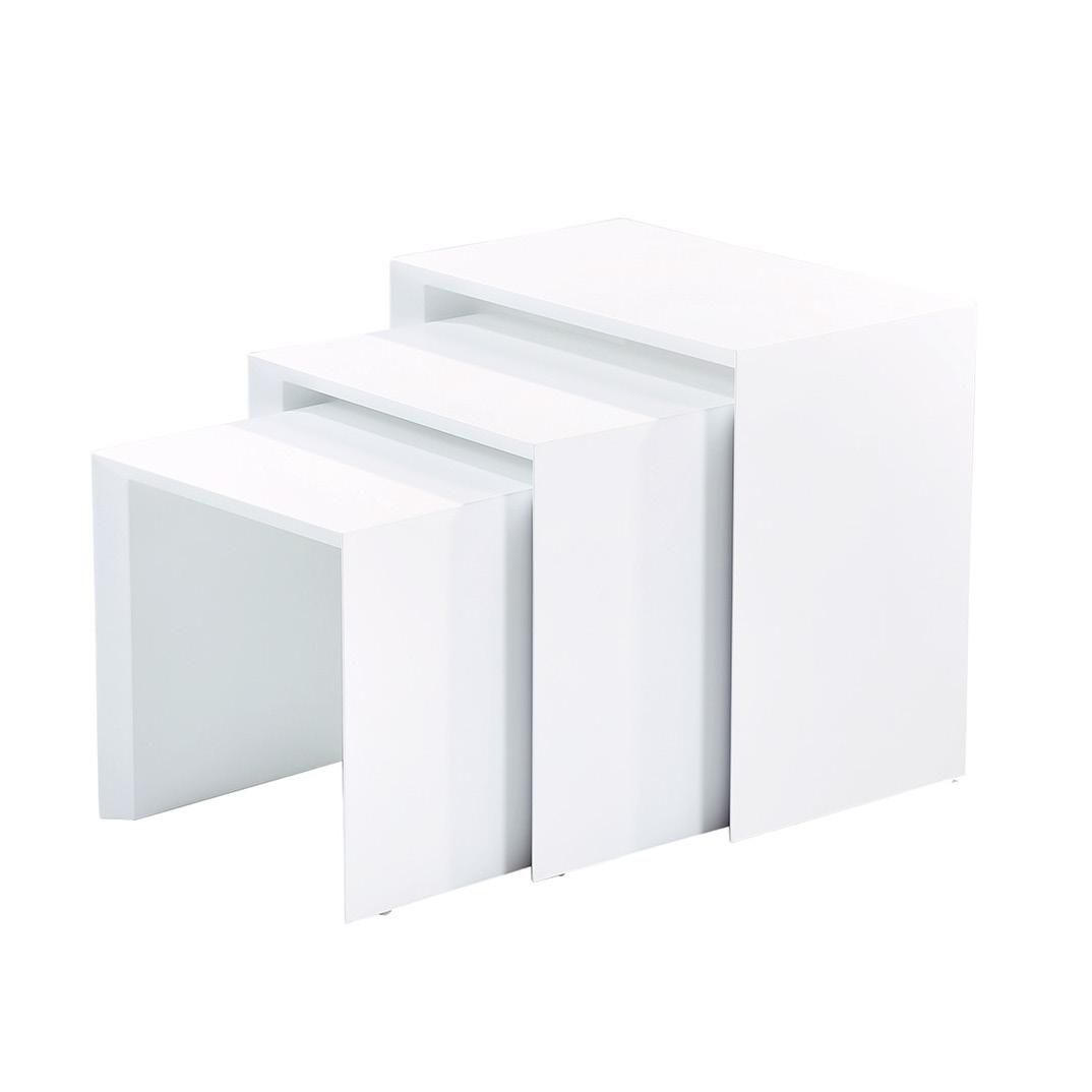 Näpsä 3 sarjapöytä valkoinen, Tenstar