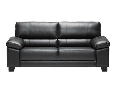 Pinja 3 (153)  sohva musta tai valkoinen nahka/kn
