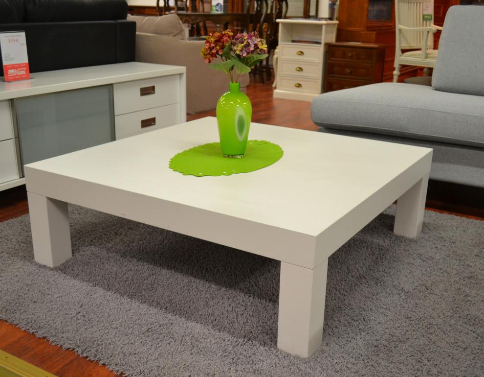 Zoom sohvapöytä 105x105 valkoinen MALLIKAPPALE