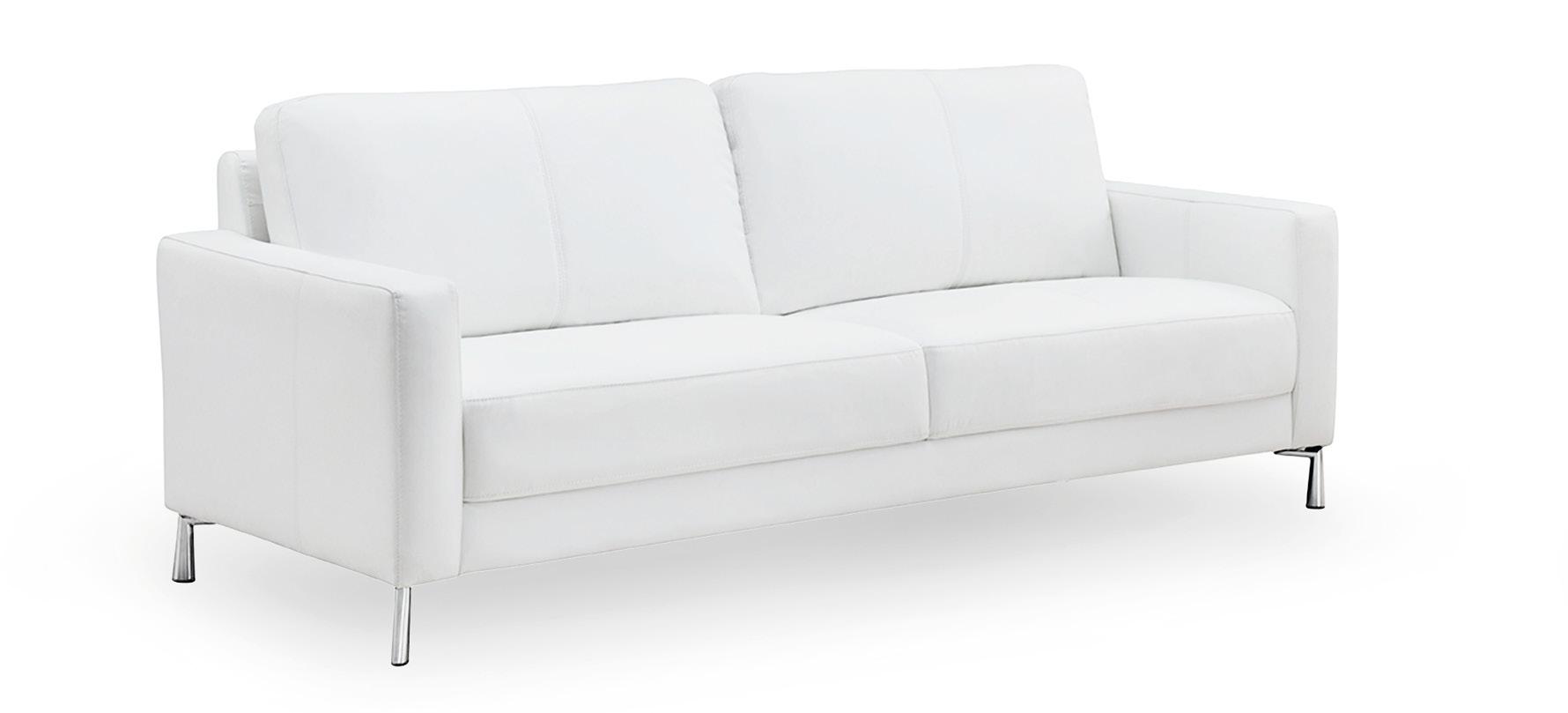 Marilyn 3-istuttava sohva, valkoinen Leather Plus, Tenstar