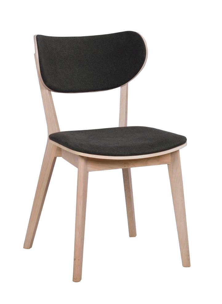 Kato tuoli valkolakattu tammi / tummanharmaa, Rowico