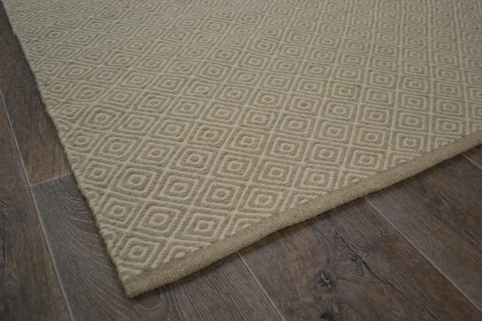 Merino matto 140 x 200 beige ruutukuvio