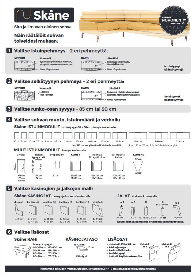 Skåne kulmasohva Kn+153+90k+64+Div.kn Hopper