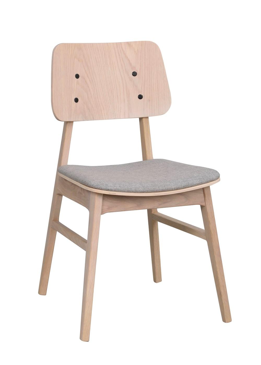 Nagano tuoli valkolakattu tammi/vaalenharmaa