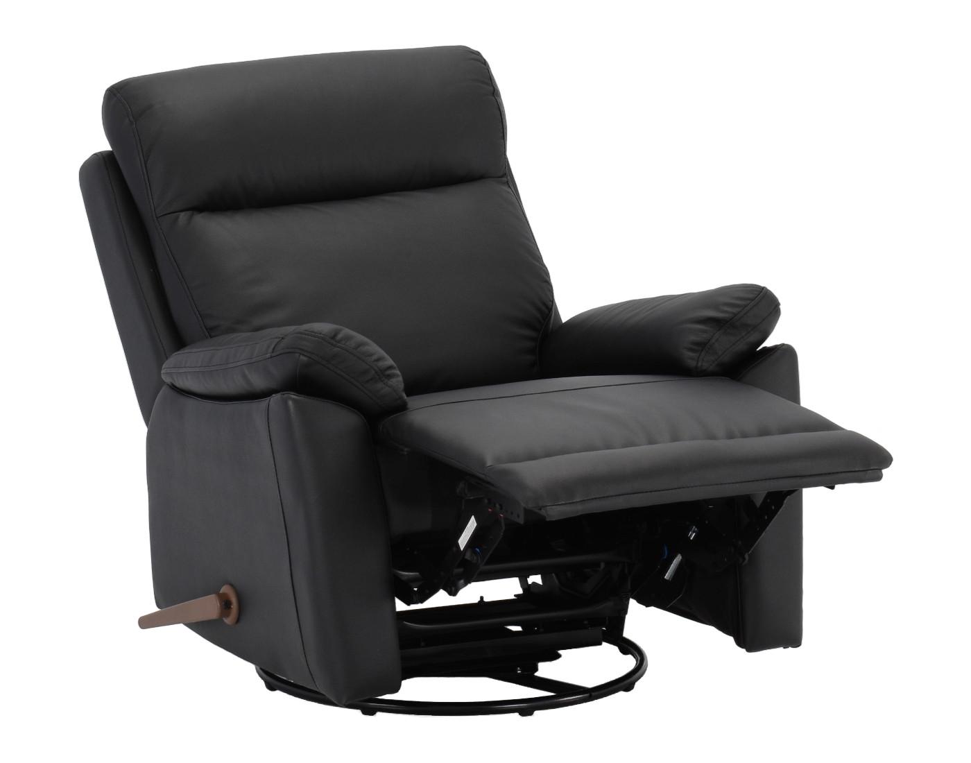 Boss recliner musta nahka/keinonahka, Tenstar