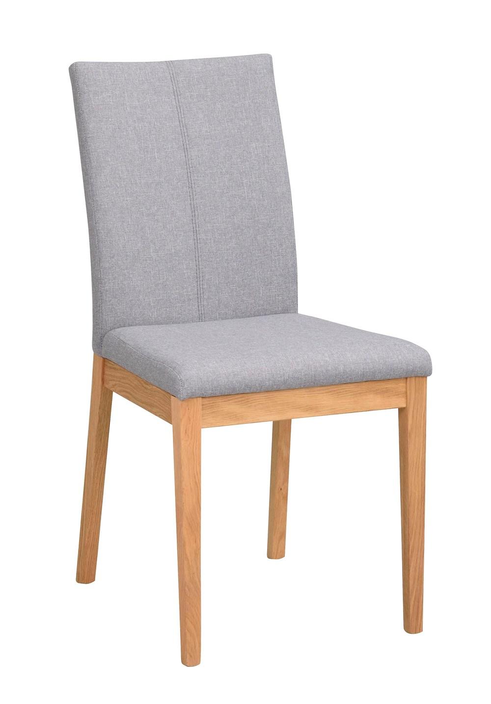 Amanda tuoli vaaleanharmaa/tammi, Rowico