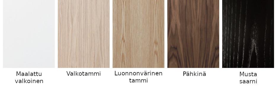 Timantti Steel 1 kokonaisuus, eri värejä