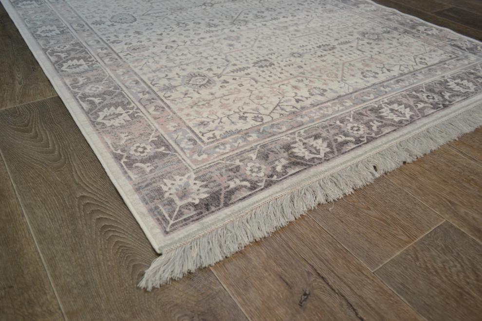 Celine matto 135 x 195 cm valkoinen/roosa