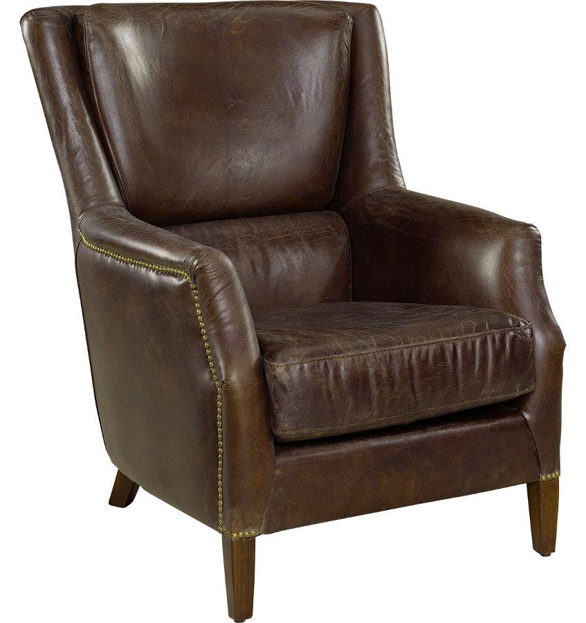 Chelsea nojatuoli antiikkinahka ruskea