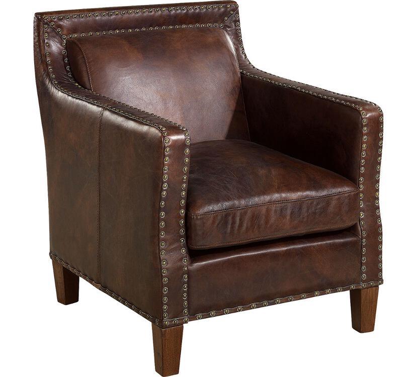 Nizam nojatuoli antiikkinahka ruskea, Artwood