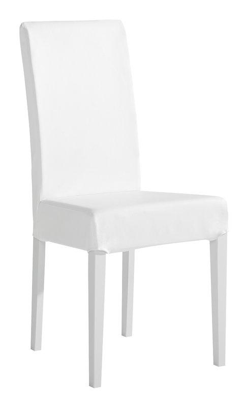 Liinus tuoli korkea hupulla, valkoinen tekstiilinahka MALLIKAPPALE
