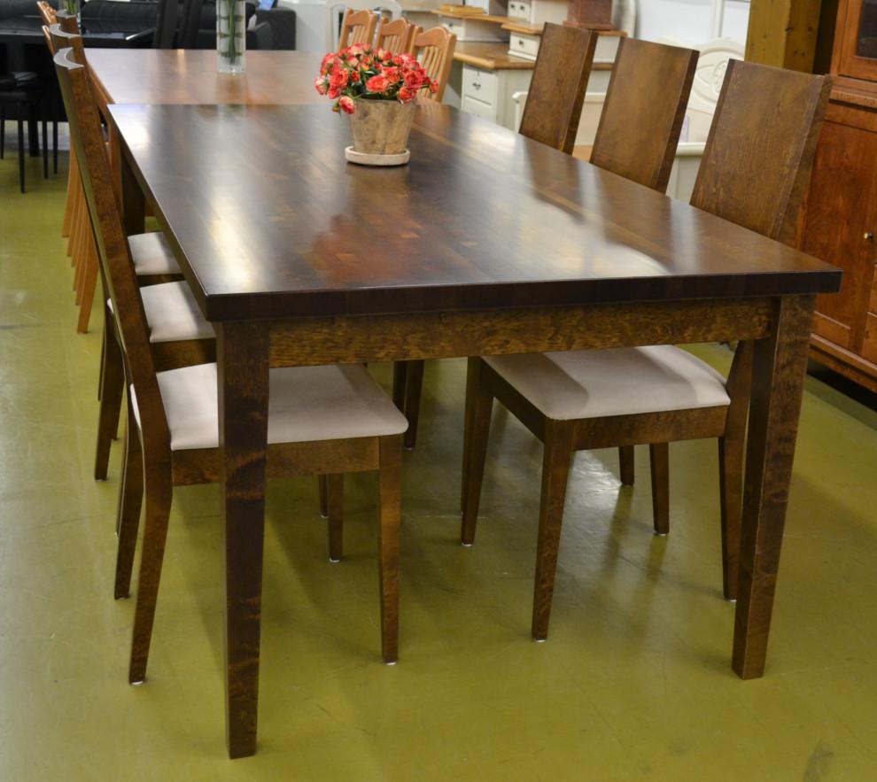 Sonetti pöytä 100x200, kansi 40mm + 6 Sonetti tuolia