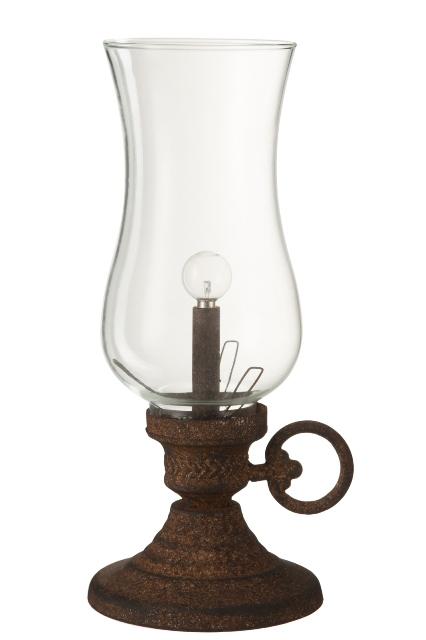 LED tuikkulyhty 33 cm ruskea
