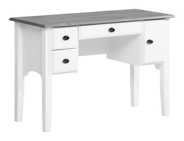 Viktoria monitoimipöytä valkoinen/kuultoharmaa