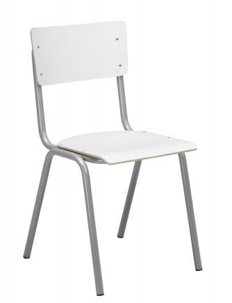 Sally tuoli harmaa runko/valkoinen laminaatti