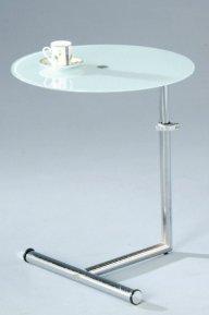 Sam pikkupöytä valkoinen lasi/kromi