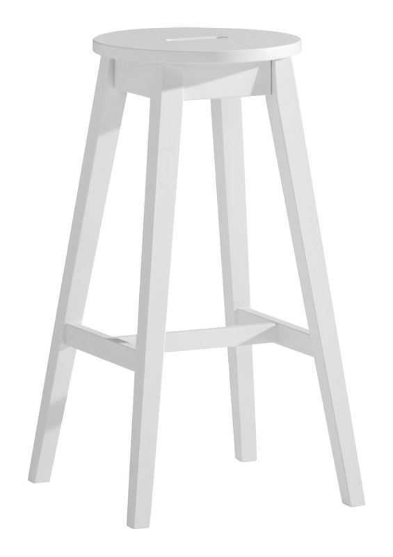 Emilia jakkara korkea valkoinen