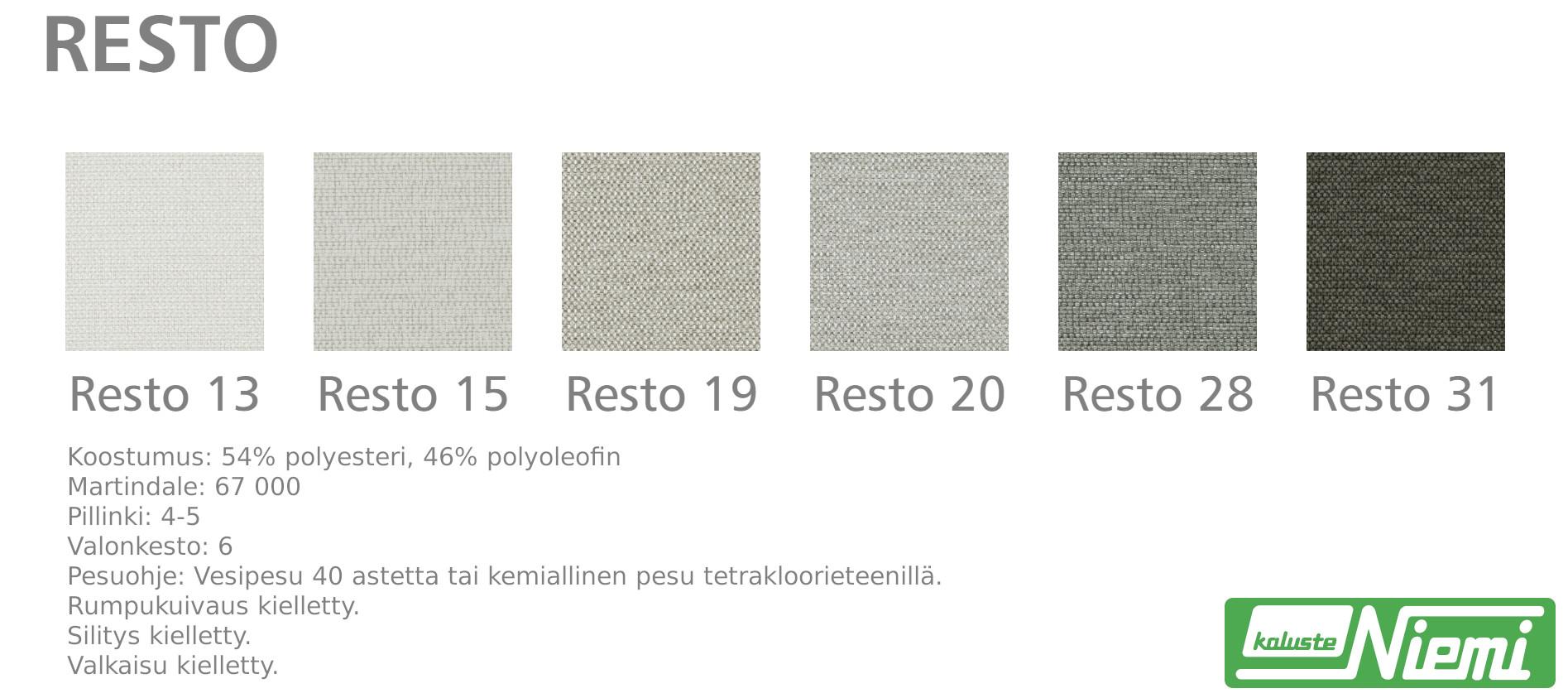 Sky sohva 207/2, kangas Nino tai Resto